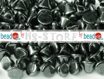 Button Beads 4mm jet/schwarz hematite 70 Stk